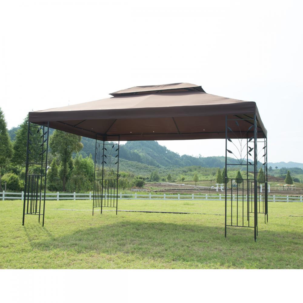 12 X 10 Outdoor Gazebo Steel Frame Vented Gazebo W