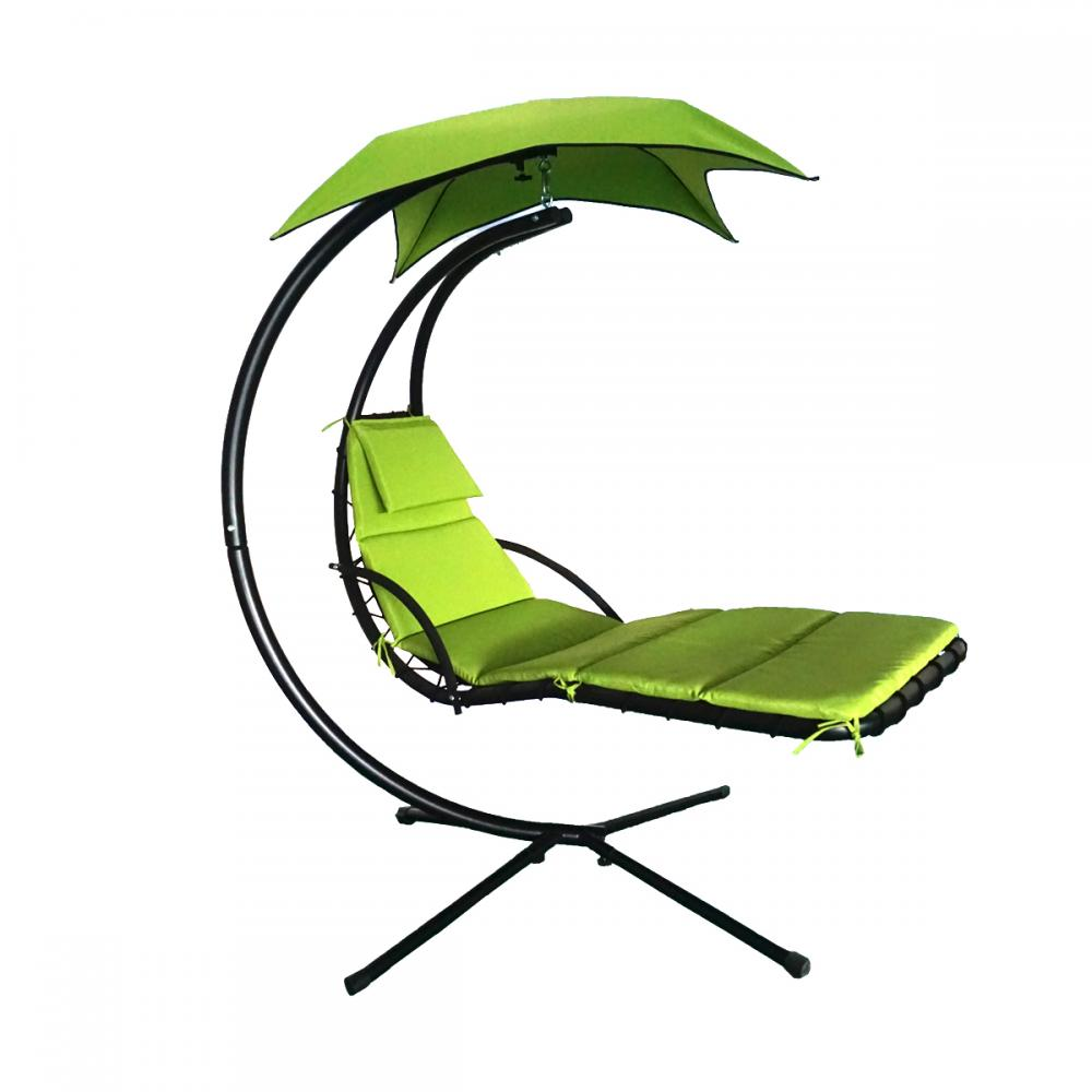 Outdoor canopy chair - Hanging Chaise Lounger Chair Arc Stand Air Porch Swing Hammock Chair Canopy