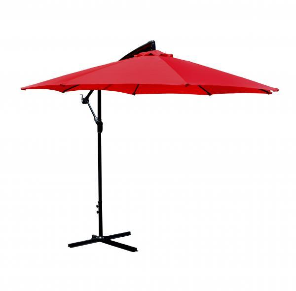 Red Patio Umbrella Offset 10u0027 Hanging Umbrella Outdoor Market Umbrella D10