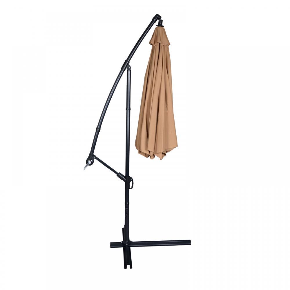 New Tan Patio Umbrella Offset 10u0027 Hanging Umbrella Outdoor Market Umbrella  D10 802405288324 | EBay