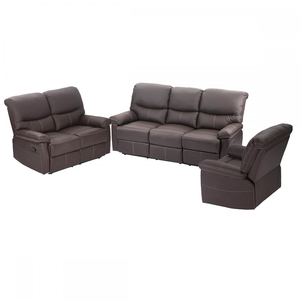 3 Set Sofa Loveseat Chaise Couch Recliner Sofa Chair Leather