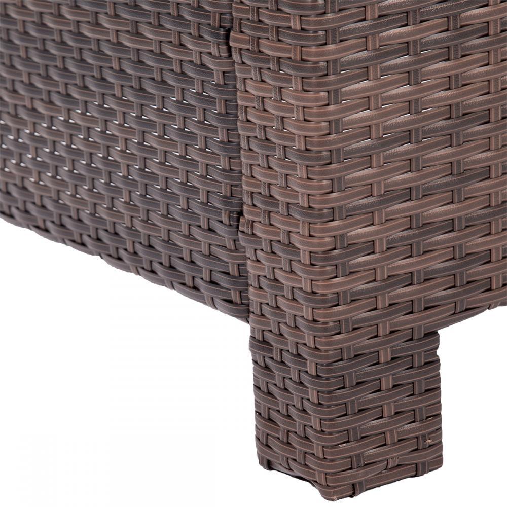 4pc pe rattan wicker sofa set cushion outdoor patio sofa couch furniture