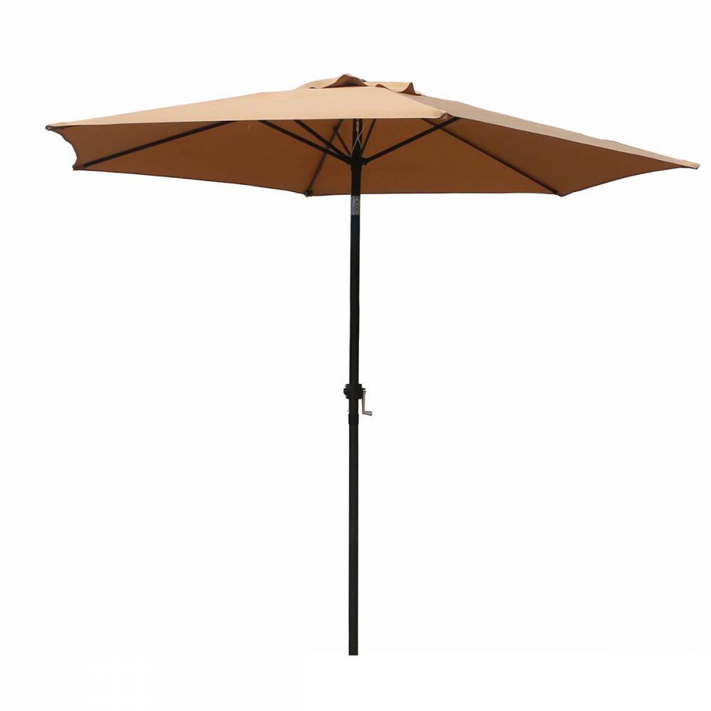New Patio Umbrella 9u0027 Aluminum Outdoor Patio Market Umbrella Tilt W/ Crank  276
