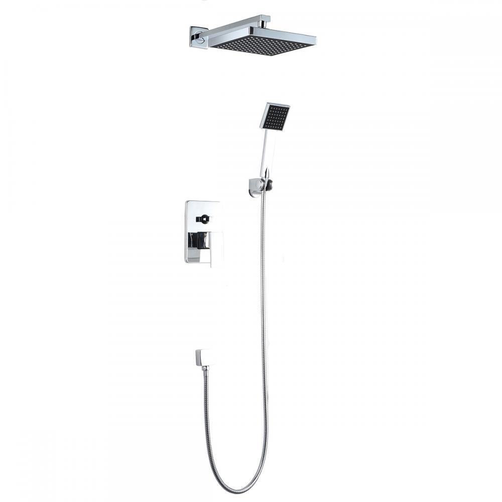 Bathroom Shower Head Arm Control Valve Hand Spray Rain Shower Faucet Set 88
