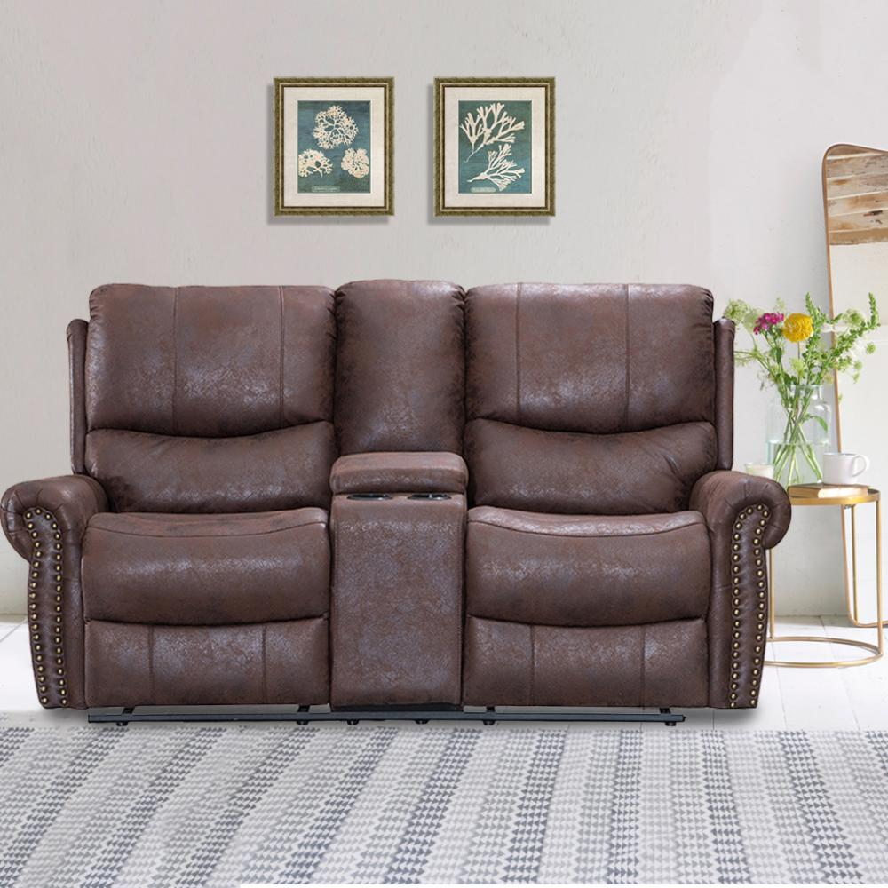 Recliner Sofa Love Seat Reclining Couch Leather Loveseat