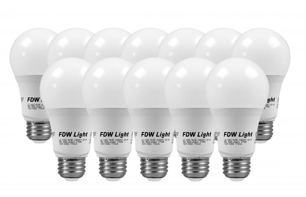 New 60 Watt Equivalent SlimStyle A19 LED Light Bulb Soft White 3000K ...