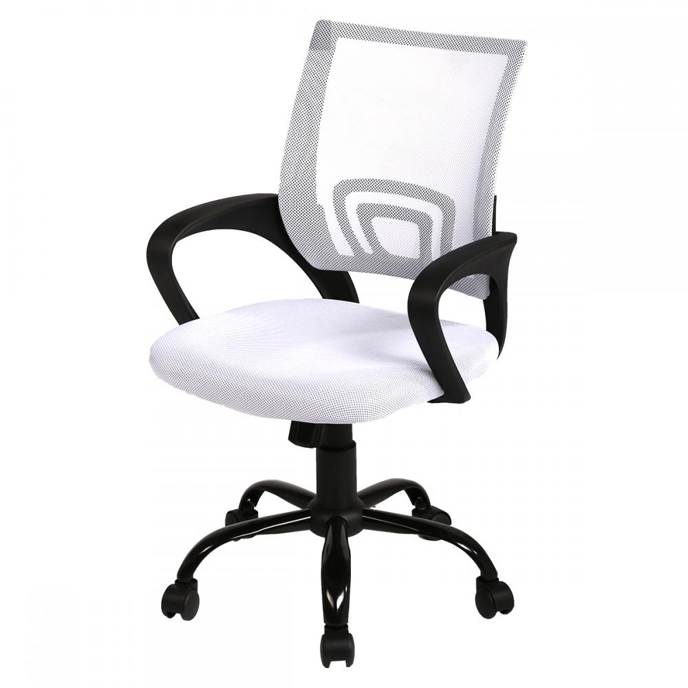 White Ergonomic Mesh Computer Office Desk Midback Task Chair W Metal Base H03