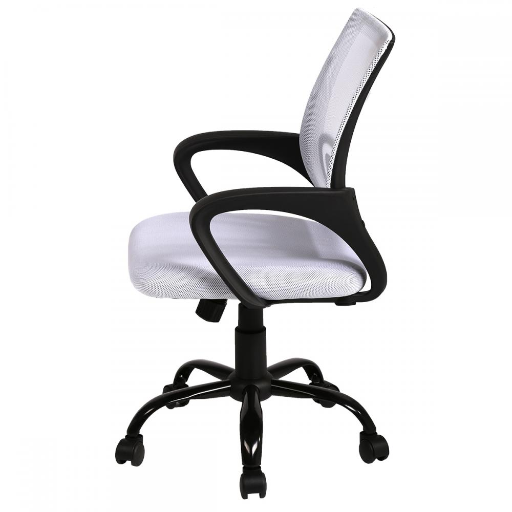 white ergonomic mesh computer office desk midback task chair w metal