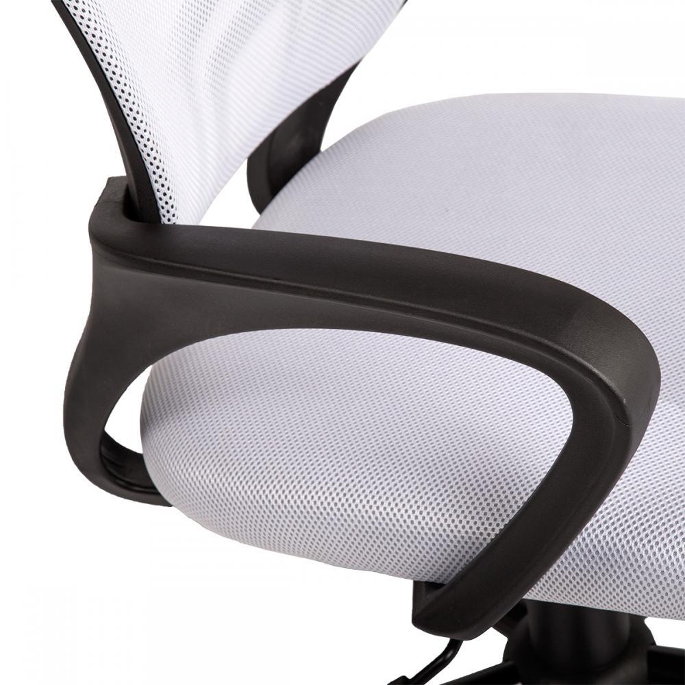 white ergonomic mesh computer office desk midback task chair w metal