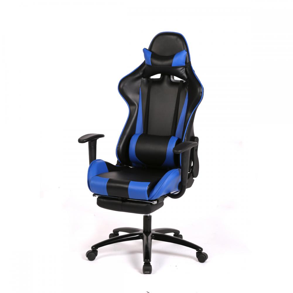 Blue Office Chair High Back Computer Racing Gaming Chair