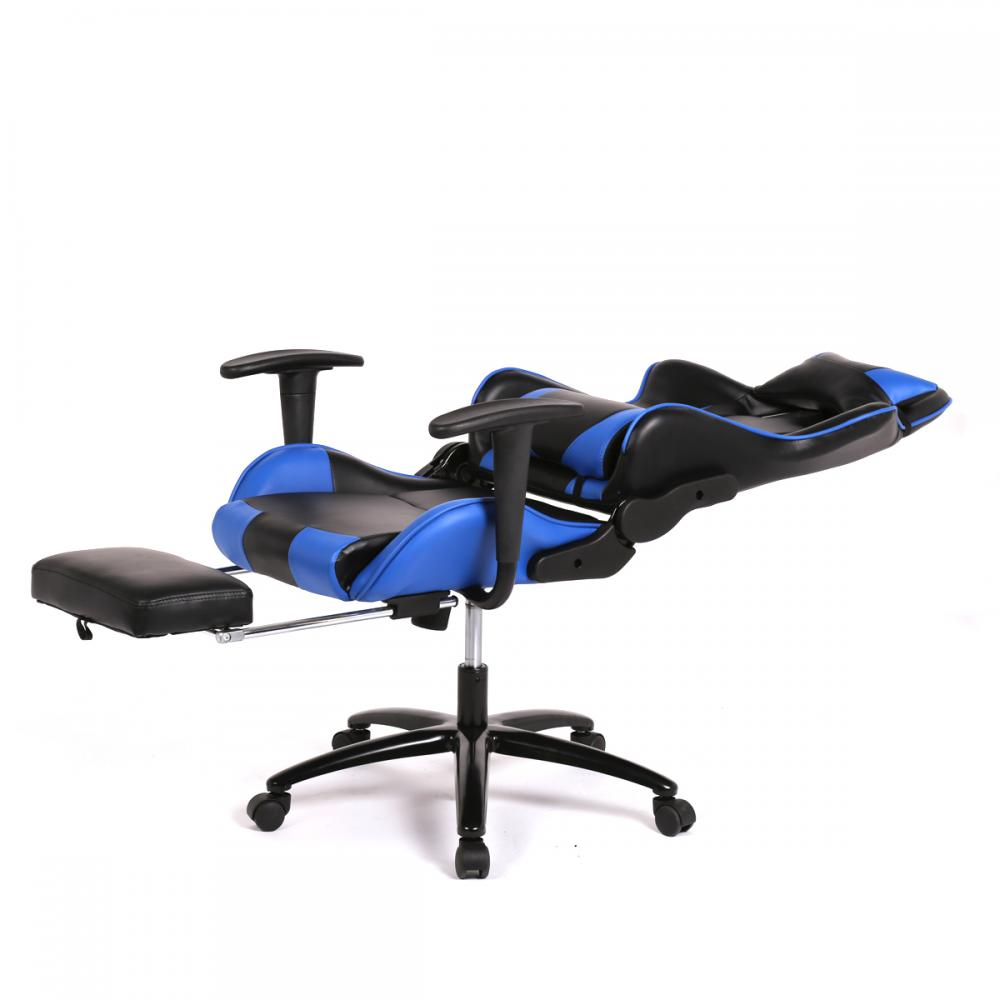 Computer gaming chair - New Blue Gaming Chair High Back Computer Chair Ergonomic Design Racing Chair Rc1