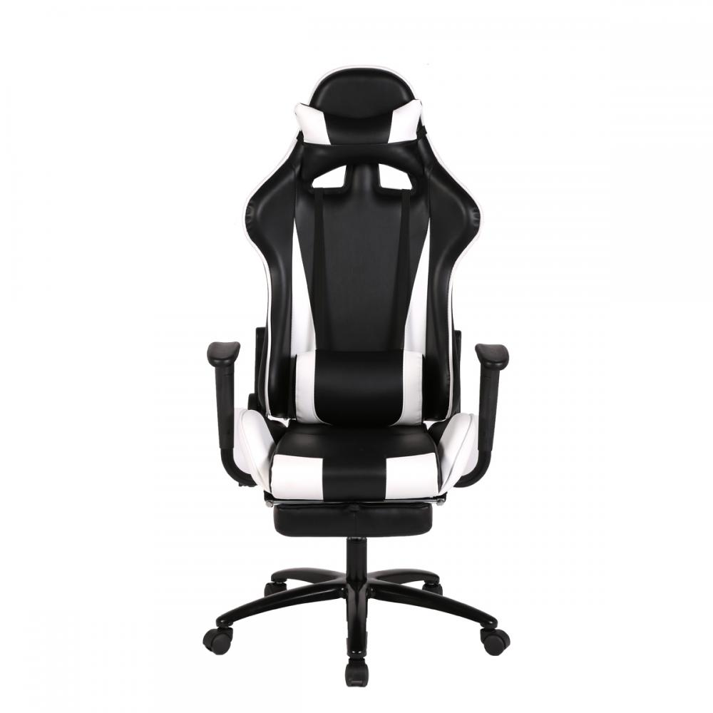Computer gaming chair - White Gaming Chair High Back Computer Chair Ergonomic Design Racing Chair Rc1