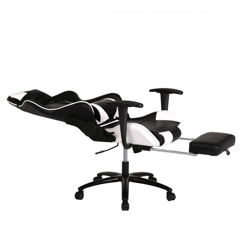 White Office Chair High Back Computer Racing Gaming Chair