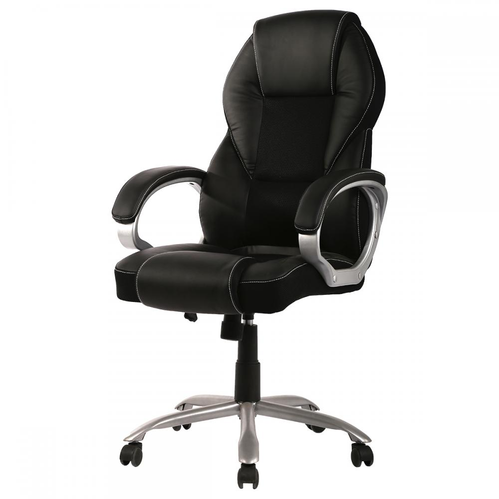 Chairs Direct: New High Back PU Leather Office Chair Ergonomic Executive