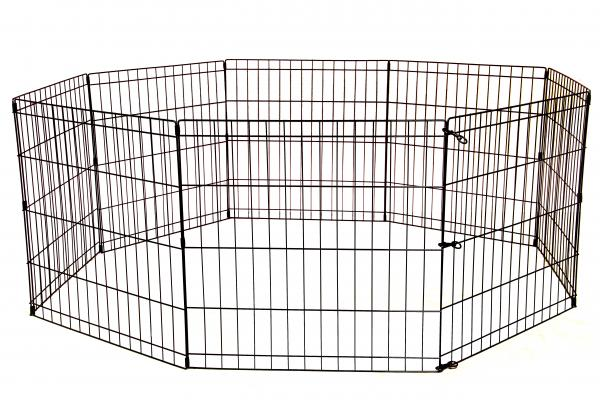 24 30 36 42 48 Tall Dog Playpen Crate Fence Pet Play Pen Exercise Cage 8 Panel Ebay