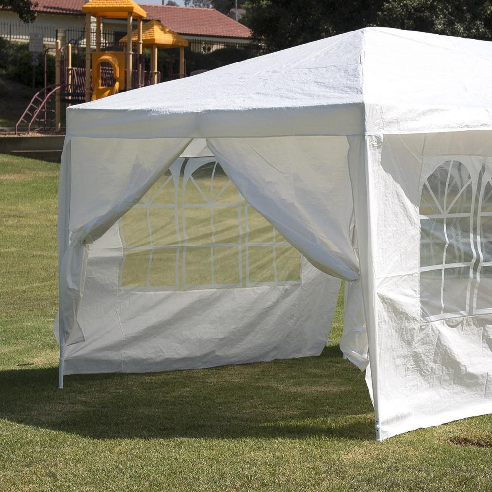 New 10u0027x30u0027 White Outdoor Gazebo Canopy Wedding Party Tent 8 Removable Walls -8 & 10u0027x30u0027 White Outdoor Gazebo Canopy Wedding Party Tent 8 Removable ...
