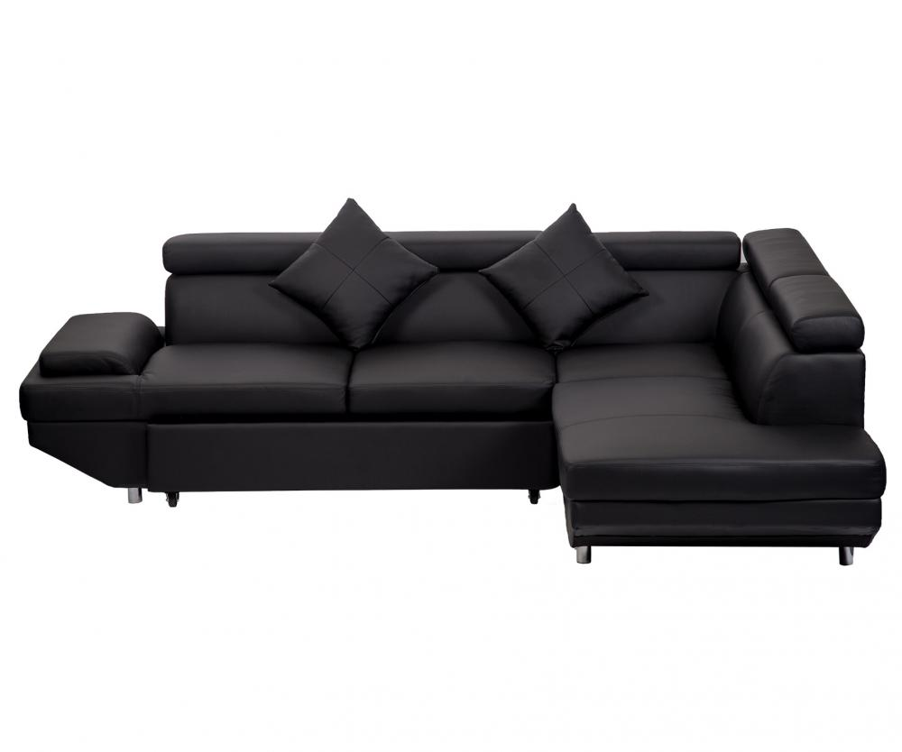 Contemporary Sectional Modern Sofa Bed - Black with ...