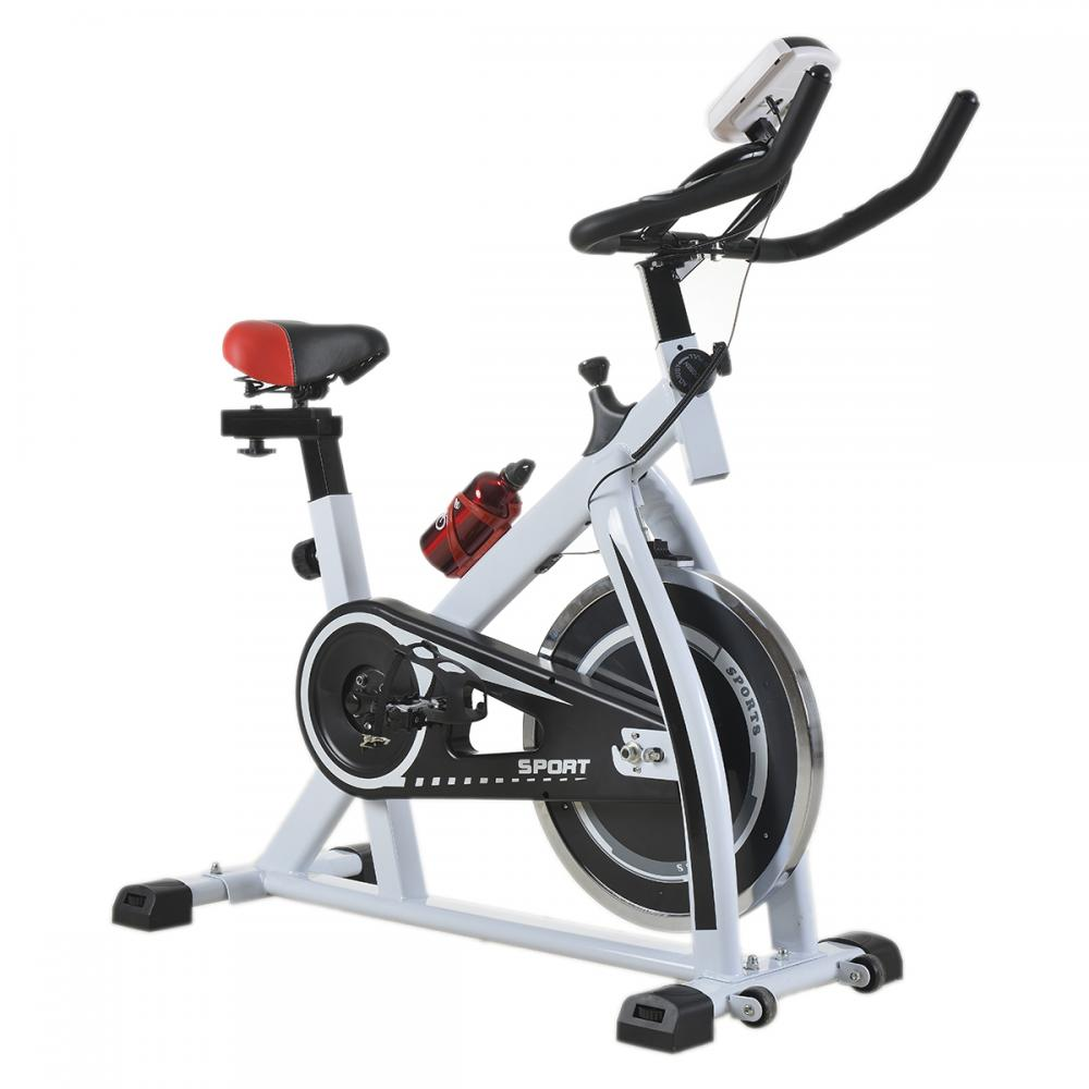 White cycling trainer fitness exercise bike stationary