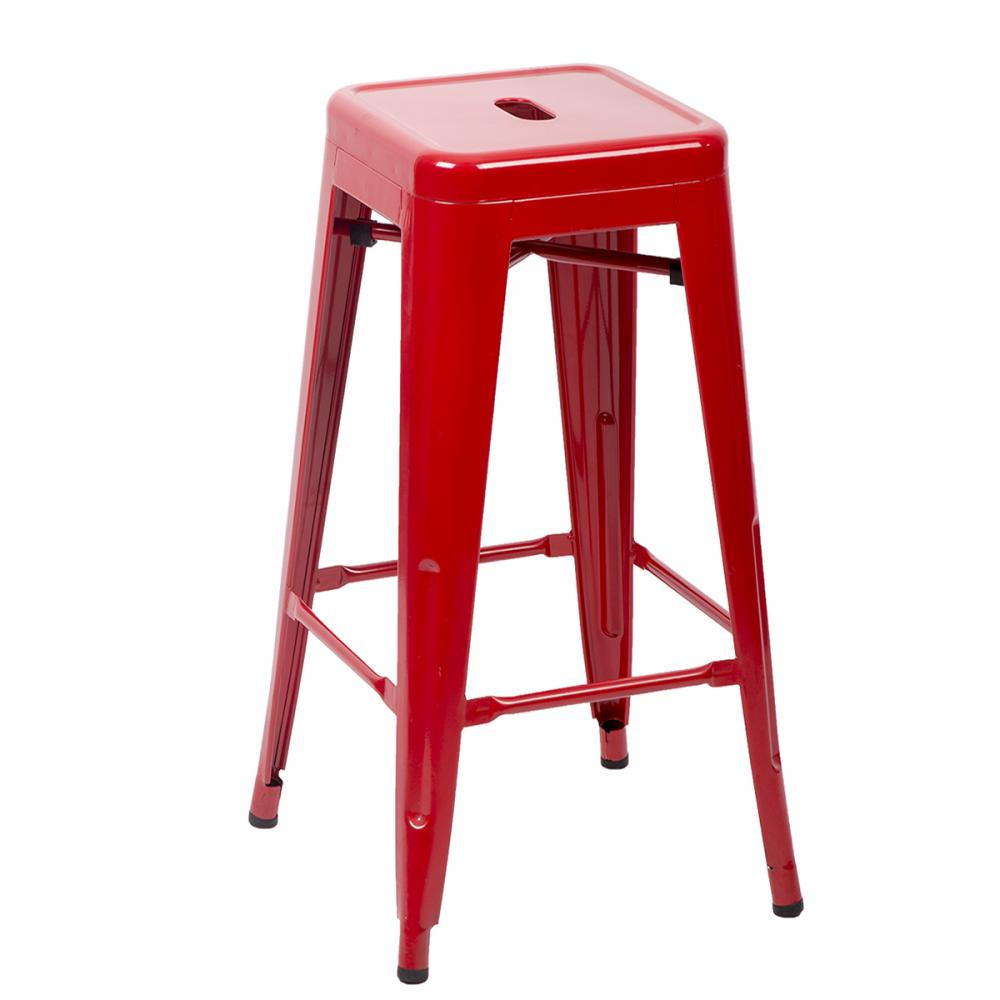 24 30 Red Metal Frame Tolix Style Bar Stools