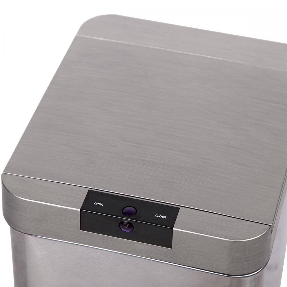 13 Gallon Automatic Sensor Touch Free Trash Can Stainless