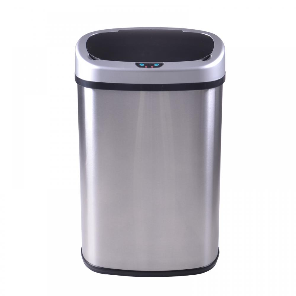Beautiful New 13 Gallon Touch Free Sensor Automatic Stainless Steel Trash Can Kitchen  50R