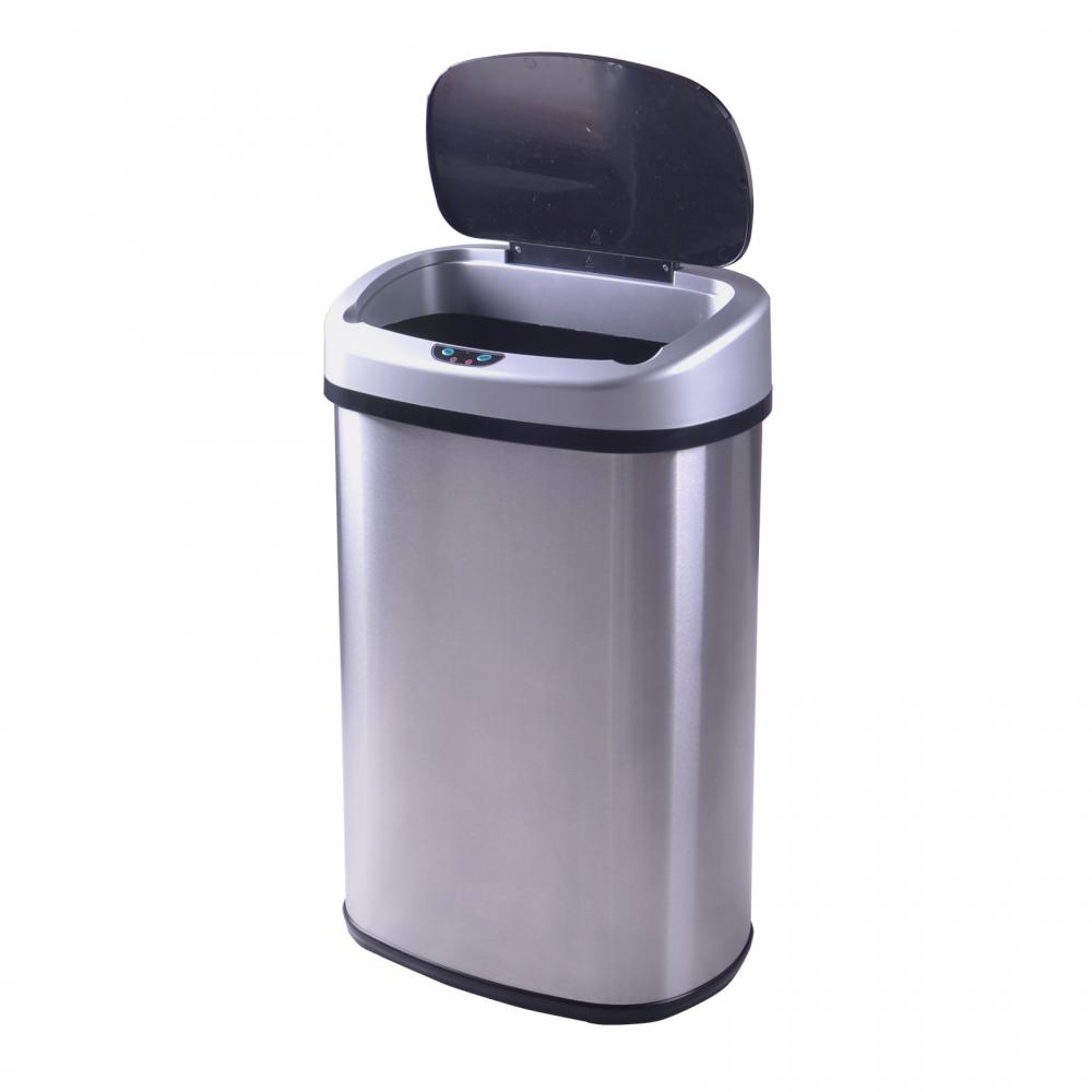 New 13-Gallon Touch-Free Sensor Automatic Stainless-Steel Trash ...