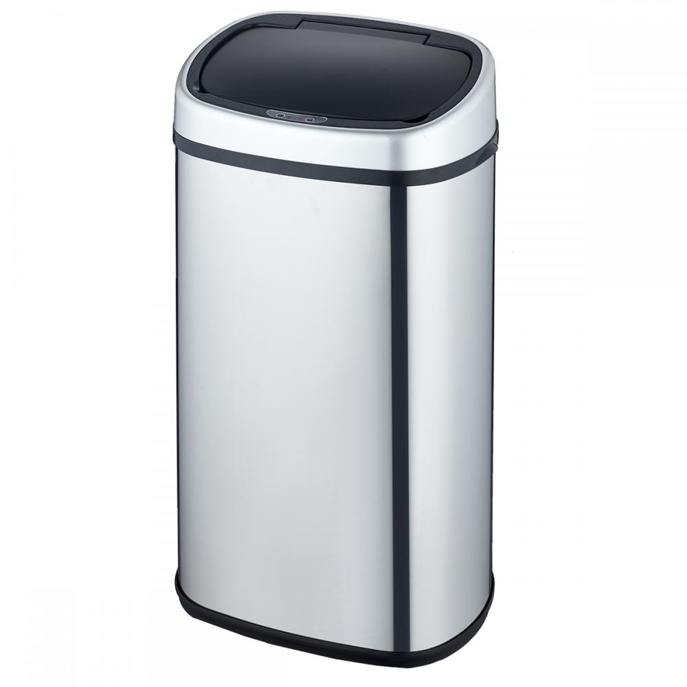 New 18 Gallon Touch Free Sensor Automatic Stainless Steel Trash Can Kitchen  68R