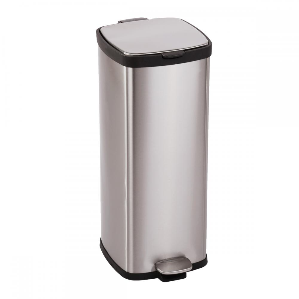 Stainless Steel Kitchen Garbage Can: BestOffice 8 Gallon/ 30L Step Stainless-Steel Trash Can