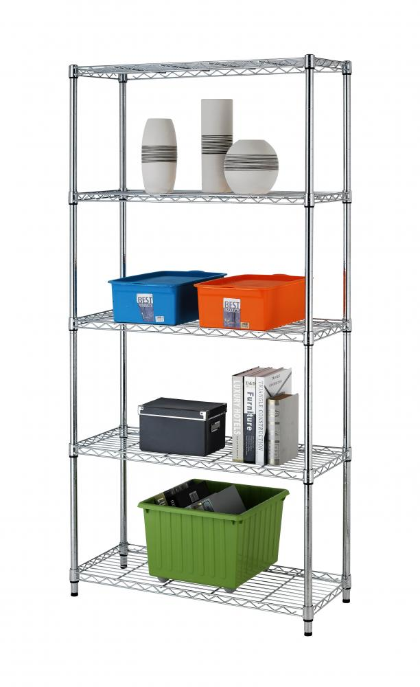New 5 Tier Wire Shelving Unit Nsf Metal Shelf Rack 1250
