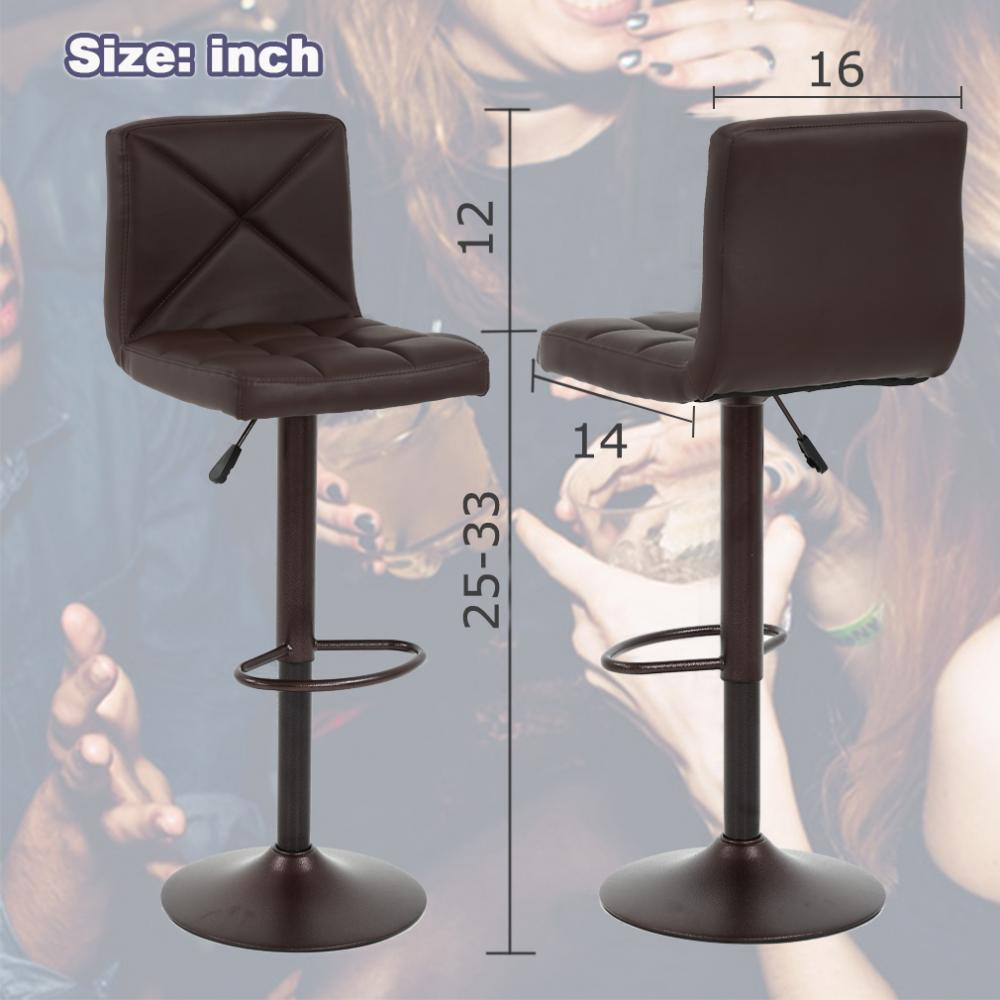 Phenomenal Details About 2 Pu Leather Modern Adjustable Swivel Barstools Hydraulic Chair Bar Stools Bt10 Ocoug Best Dining Table And Chair Ideas Images Ocougorg