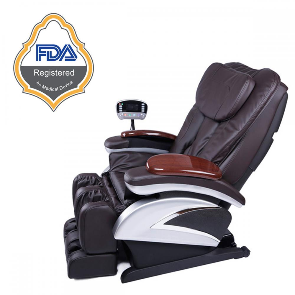 Awesome Electric Full Body Shiatsu Massage Chair Recliner W/Heat Stretched Foot  Rest 06C