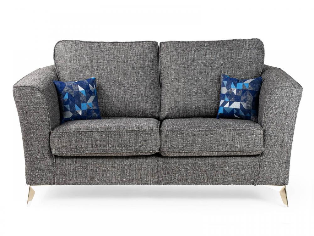Fine Aneka Sofa Set Grey Fabric 3 2 1 Sofas Suite Luxury High Arms Deep Seating New Ebay Machost Co Dining Chair Design Ideas Machostcouk
