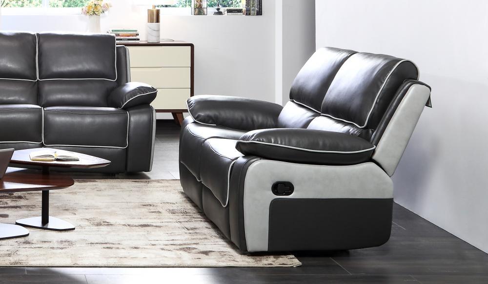 Holden Sofa Set Range Leather Recliner Sofas Black Grey