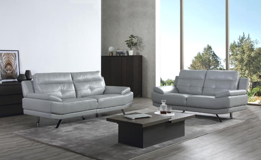 Details about Islington Leather Sofa Suite Black Grey 3+2+1 Sofas Set  Couches Modern Timeless
