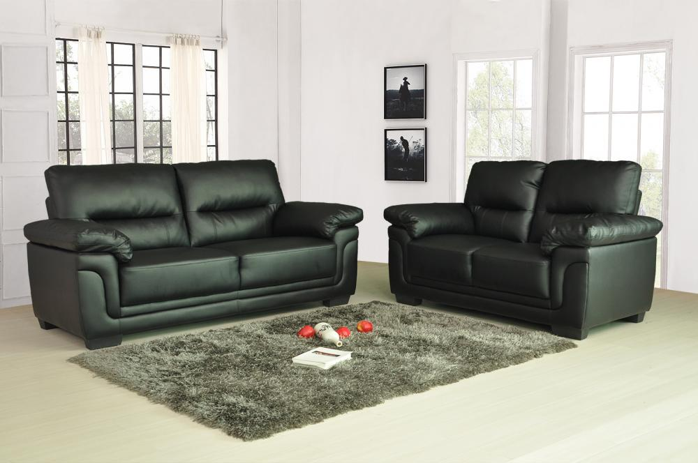 Sale new luxury kansas leather sofas 3 2 seater super for Leather sofa 7 seater
