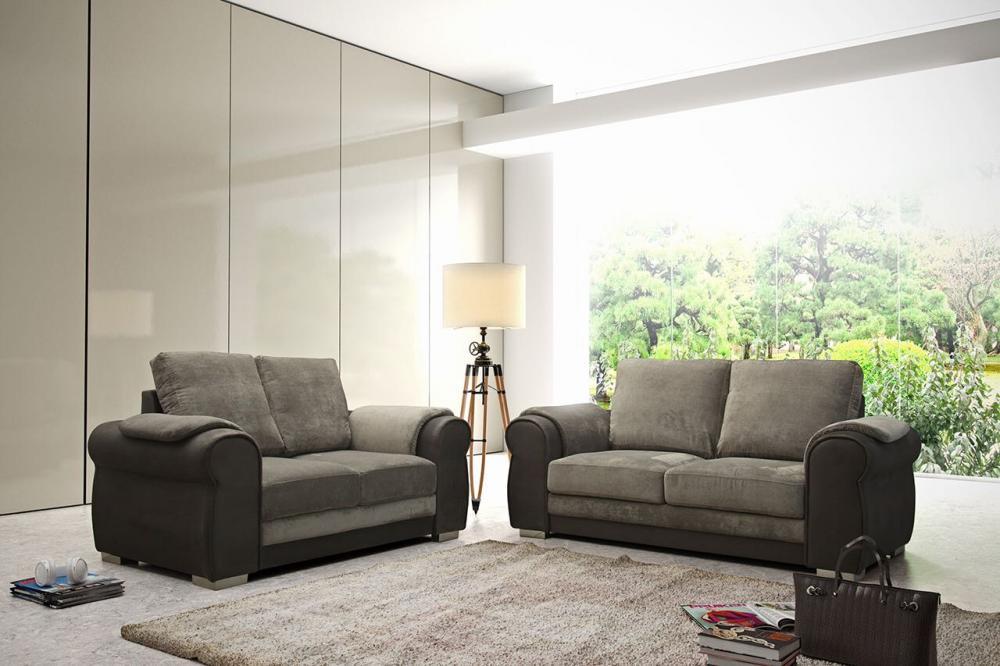 Chris Grey Fabric Sofa Set Suite 3+2+1 Corner Stool 3 Piece 2 Piece Corner  Sofa