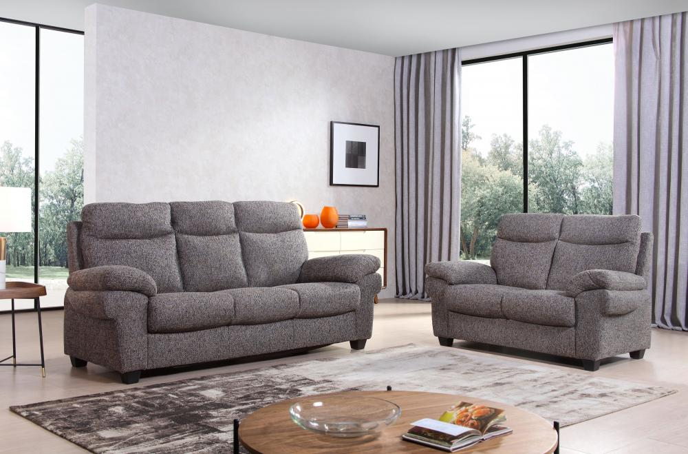 Details About Tanya Fabric Luxury Sofa Suite 3 2 1 Grey Coffee Sofas Suite High Backs Couches