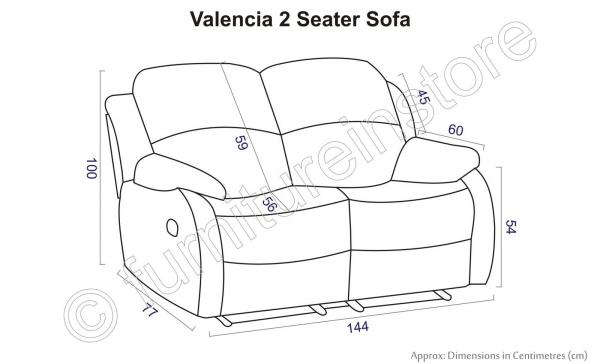 Valencia Leather Recliner Sofa Set 3 2 Suite Couch Brown 2