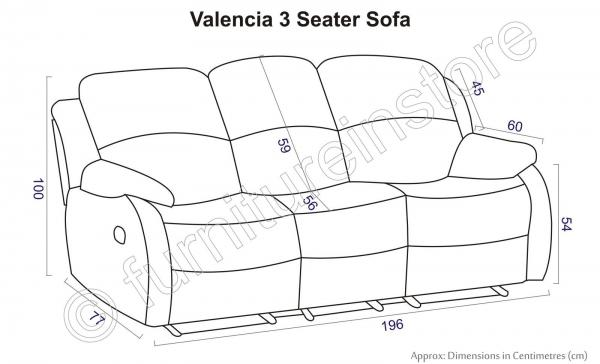 Valencia 3 2 Leather Recliner Sofa Suite Black Two Piece