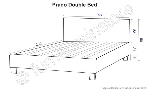 Bed 3ft Single 4ft Small Double 4ft6 Double 5ft King Faux