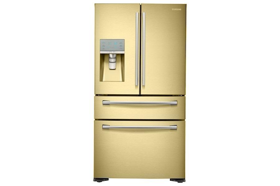 Samsung American Freezer Part - 46: SAMSUNG RF24FSEDBSR American-Style Fridge Freezer Bespoke Range Cream