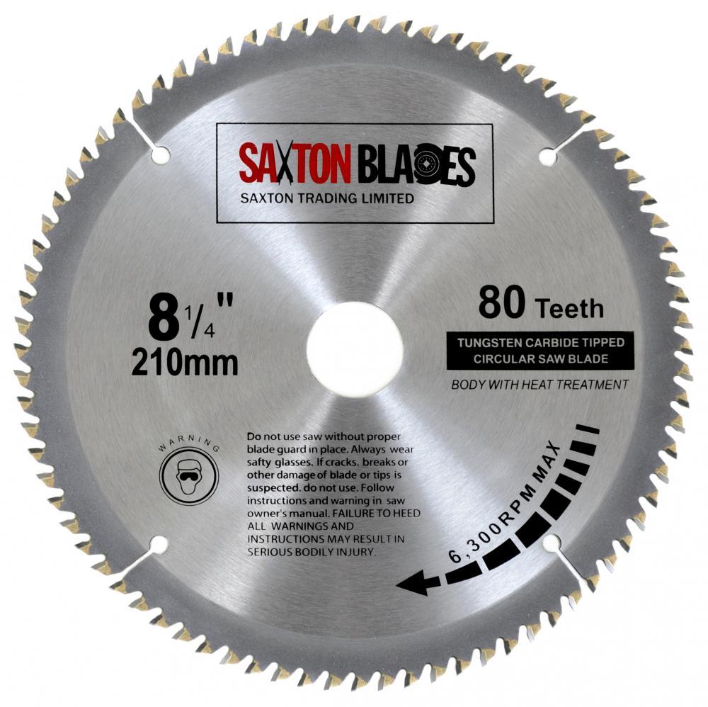 Saxton tct circular saw blade 210mm x 80t bosch makita dewalt fits saxton tct circular saw blade 210mm x 80t bosch makita dewalt fits 216mm saws greentooth Images