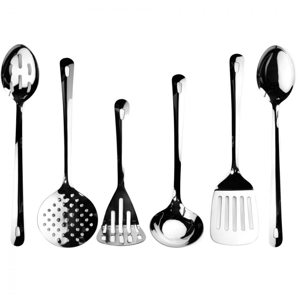 Zodiac Stainless Steel 6 Piece Turner Ladle Spoon Masher Skimmer Utensil Set