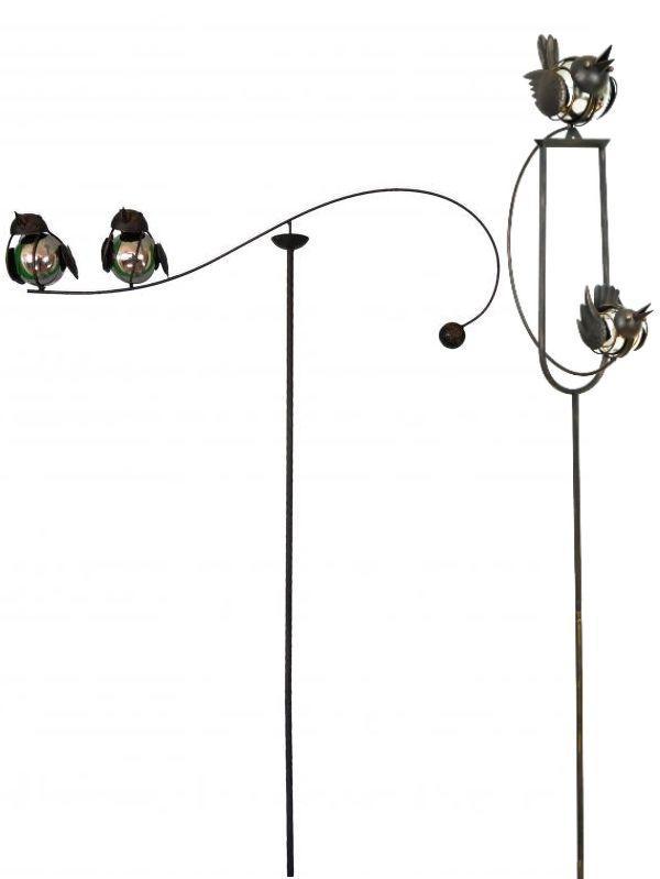 E2e Mix Match Spinning Rocking Balancing Love Birds Metal Garden