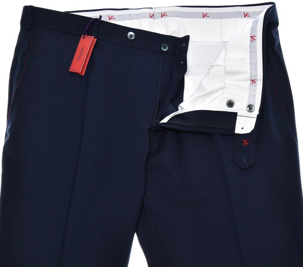 Isaia Napoli Dress Pants Aquaspider Wool Size 40 Dark Gray 06PT0141 $595