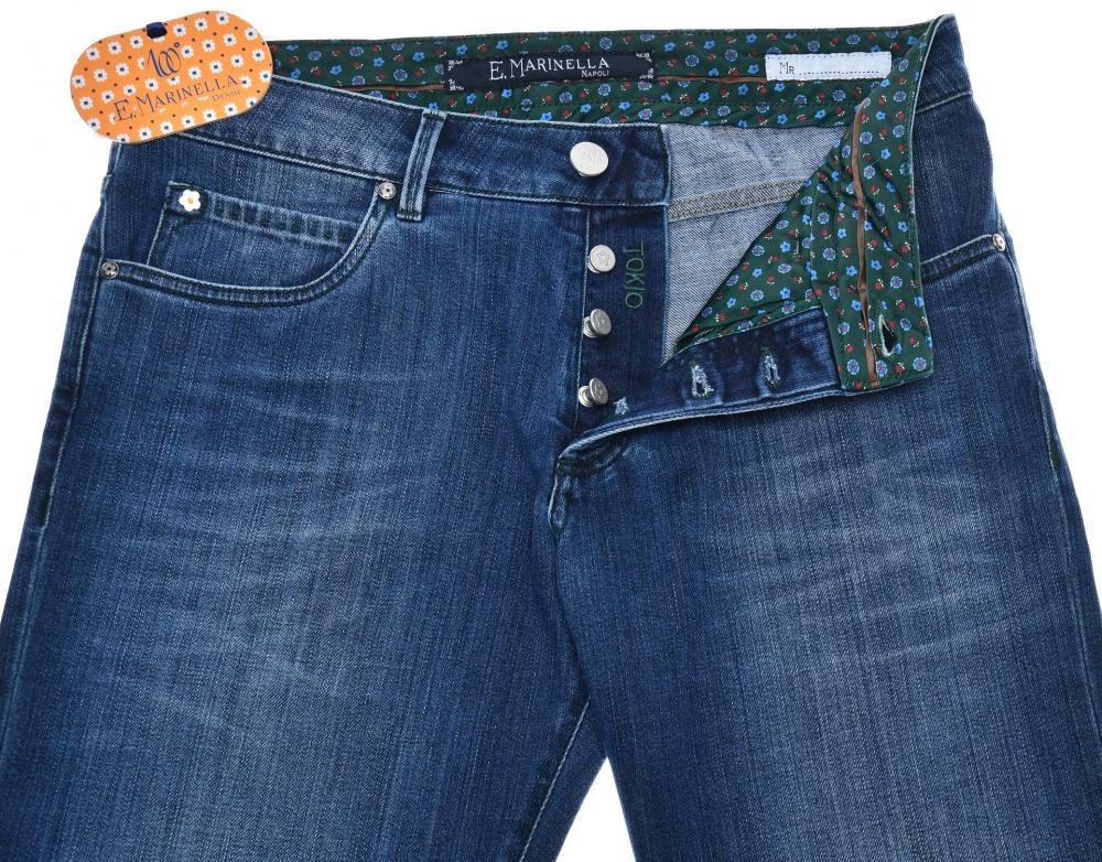 Marinella Napoli Jeans /'Tokyo/' Cotton Stretch Size 40 Blue 07JN0110 $450 E