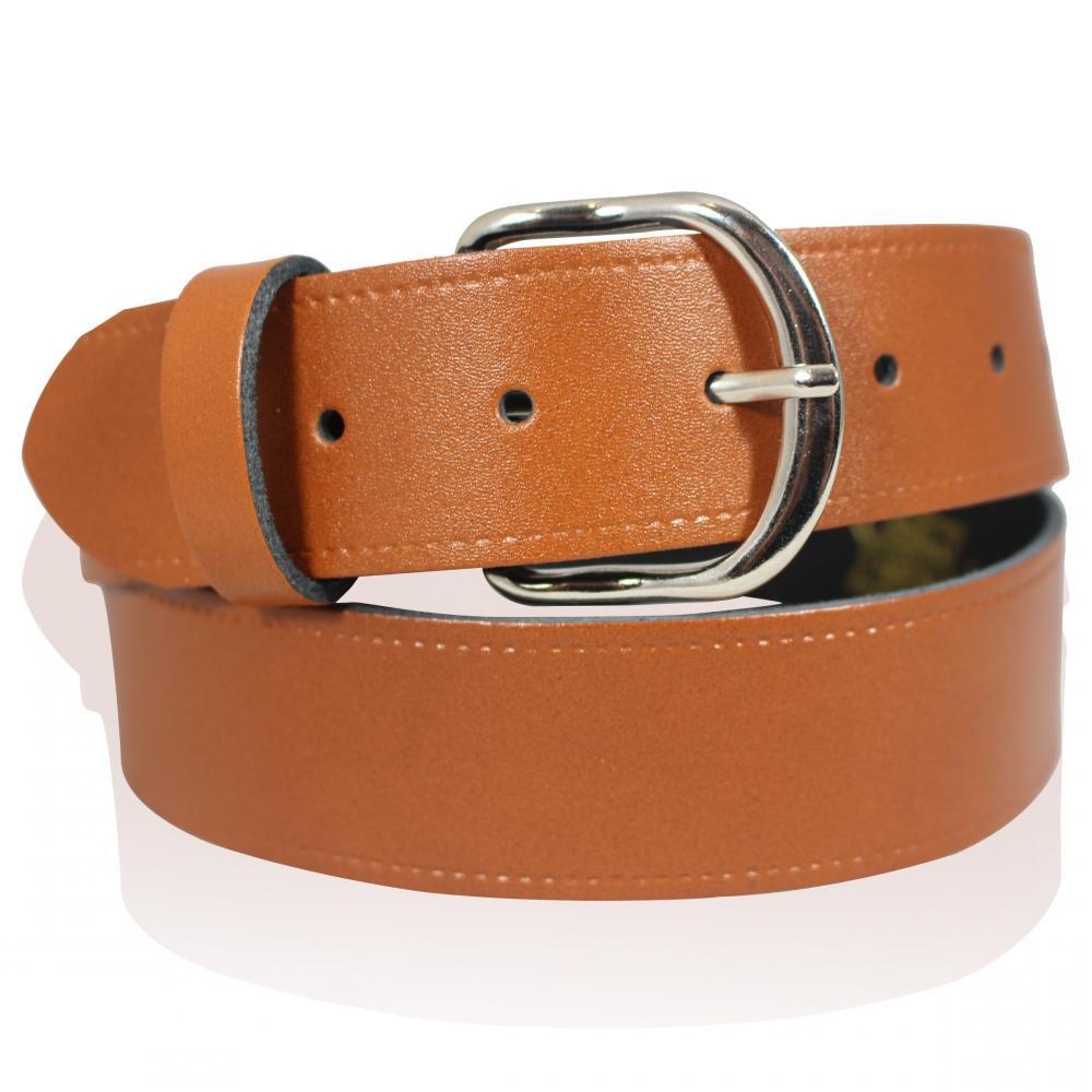"""MENS 1.5/"""" GENUINE LEATHER SNAP ON BELT WITH BUCKLE MADE IN ENGLAND SIZES 26-55/"""""""