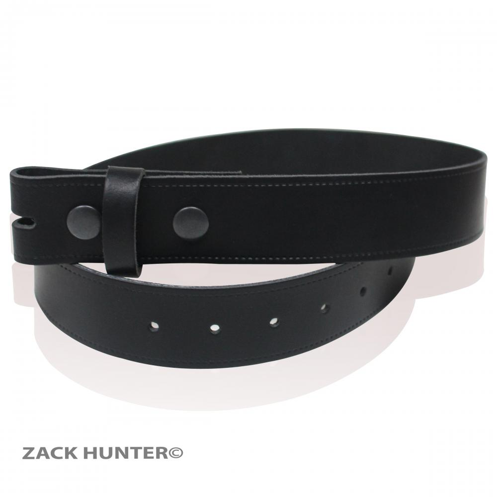MENS REAL LEATHER 1.5 SNAP BELTS DETACHABLE MADE IN ENGLAND BY ZACK HUNTER