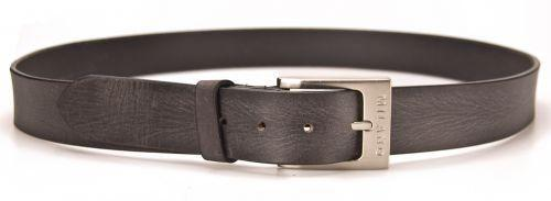 """Wide Belt by Milano Stylish Jeans Black Mens Full Grain Leather 1.5/"""" 40mm"""