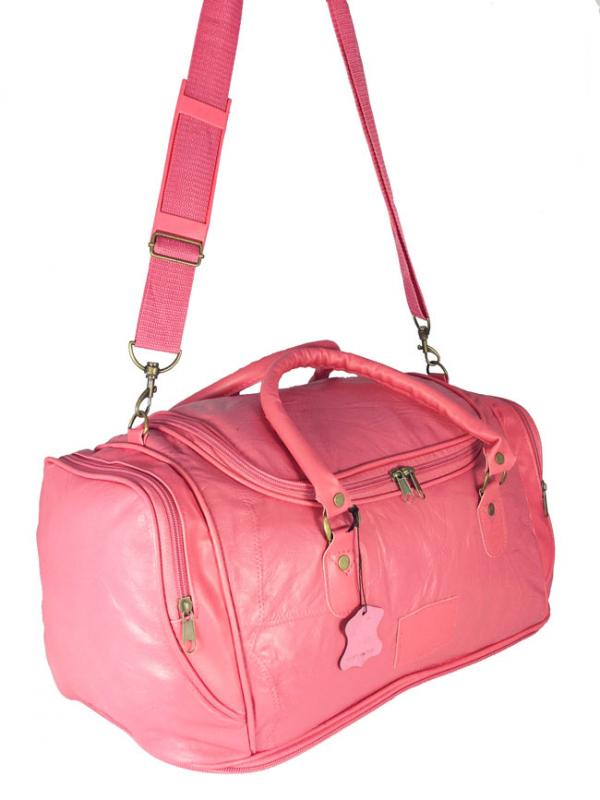 LADIES WOMENS LEATHER GYM BAG BAGS LEATHER HOLDALL TRAVEL ...